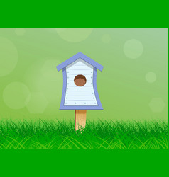 birdhouse for birds vector image