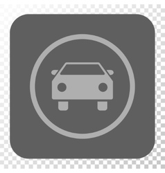 Car Rounded Square Button vector