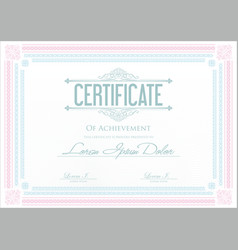 Certificate or diploma template 4 vector