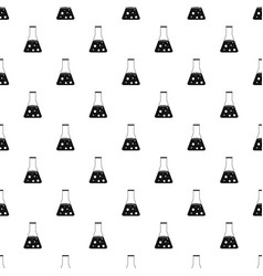 Chemical flask pattern vector