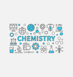 Chemistry creative modern background vector