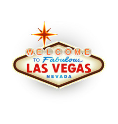 Classic retro welcome to las vegas sign vector