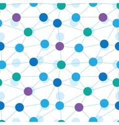 Connected dots seamless pattern background vector image