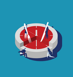 Corporate business people and time slice concept vector