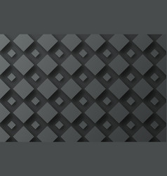design background with flying black rhombuses of vector image
