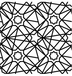 eastern pattern pattern on white isolated vector image