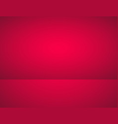 empty red color product showcase studio room vector image