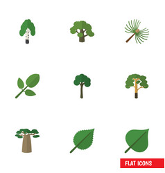 Flat icon nature set of timber rosemary wood and vector