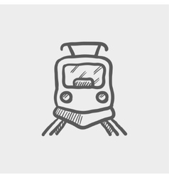 Front view of train sketch icon vector image vector image
