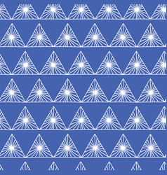 geometric seamless pattern in tribal style in blue vector image
