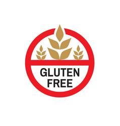 gluten free - colored icon badge vector image
