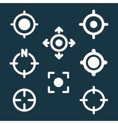 GPS Target Location Symbols vector image