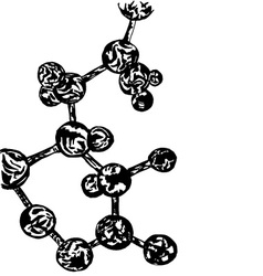 Hand drawing molecule vector image