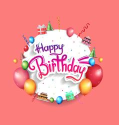 Happy birthday design with white circle vector