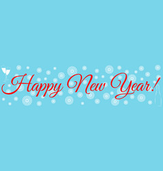 happy new year congratulation banner vector image