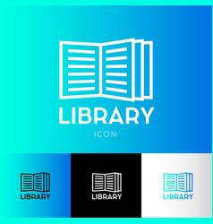 Icon library electronic library logo vector