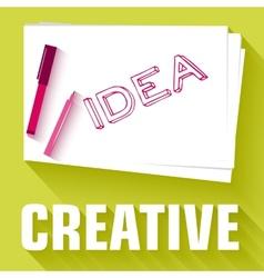 idea card business background concept desig vector image