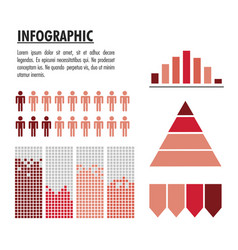 infographic with statistics design vector image