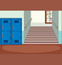 Interior indoor school vector