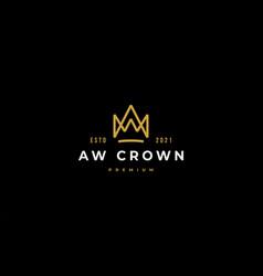 King crown logo icon design vector