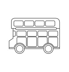 London double decker bus public transport vector