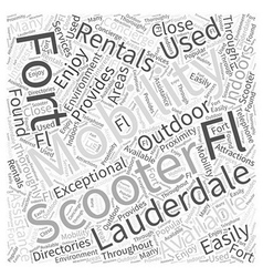Mobility Scooters Rentals Fort Lauderdale FL Word vector