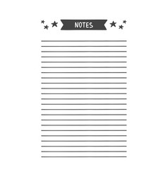 Notes template for agenda planner vector