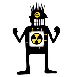 Nuclear powered silhouette cartoon vector