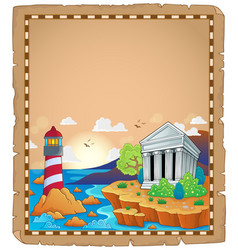 Parchment with greek theme 1 vector