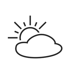 Partly cloudy Sunny intervals Weather forecast vector image