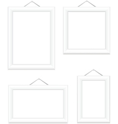 Photo frames white vector