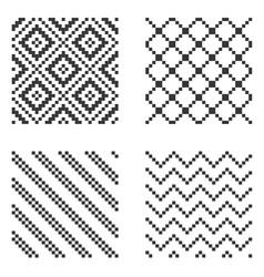 pixel seamless pattern set vector image