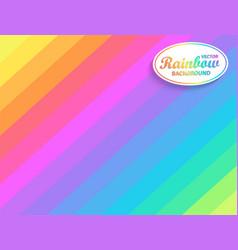 rainbow diagonal background vector image