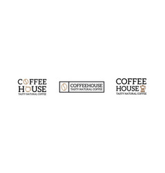 set of coffee vintage logo and badge label vector image