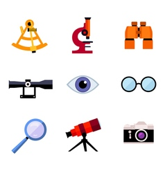 Set of optic icons vector
