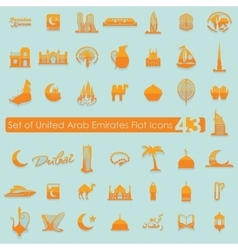 Set of United Arab Emirates icons vector