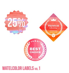 Set of watercolor shopping icon in eps vector image