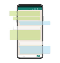 smartphone with sns interface vector image