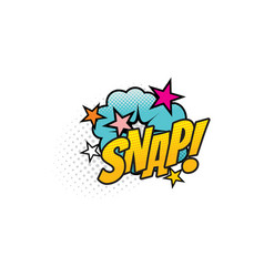 Snap cartoon comic book sound blast explosion vector