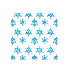 snowflake icon design template vector image