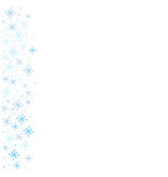 Snowflakes backgound happy holidays vector