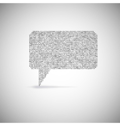 Speech bubble Eps 10 vector image