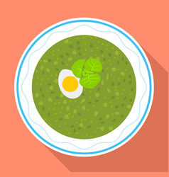 Spinach soup icon flat style vector