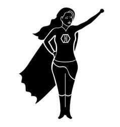 Superwoman cartoon character silhouette vector