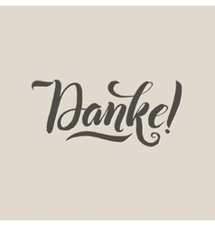 Thank You German Language Grey Lettering on vector image