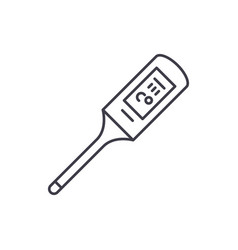 thermometer line icon concept thermometer vector image