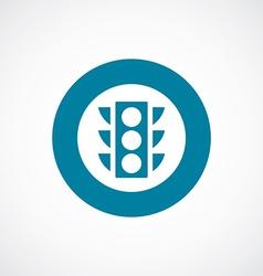 Traffic light icon bold blue circle border vector