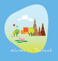 travel thailand vector image