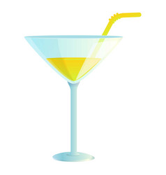 Tropical cocktail icon cartoon style vector