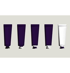Tubes for packaging violet set vector image